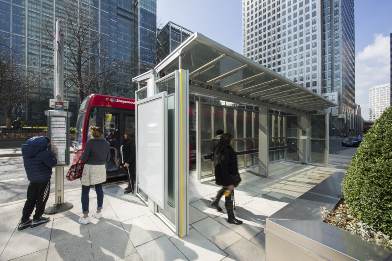 Canary Wharf Bus Shelter